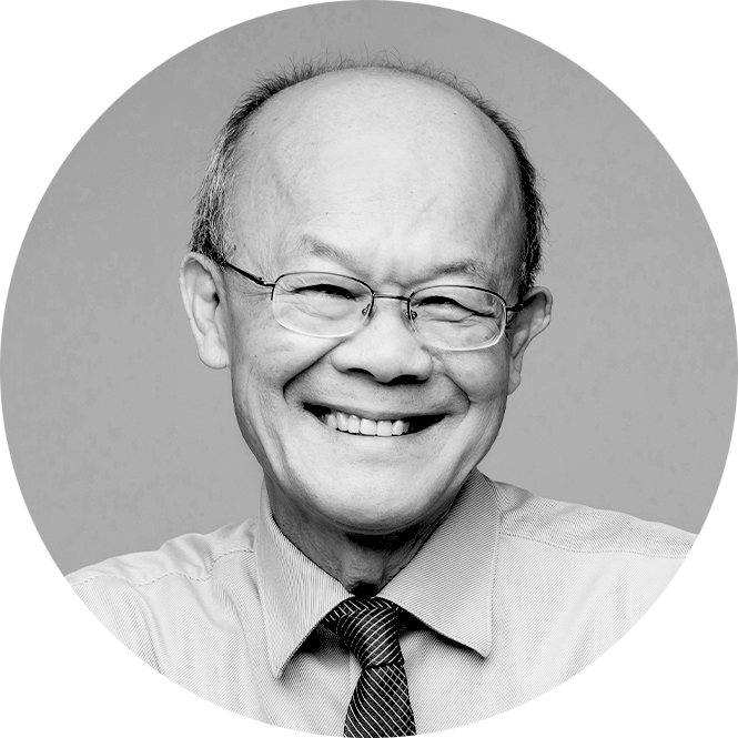 Picture of a man named, Dr. Barrie Tan in a black and white photograph
